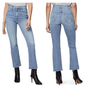 MOTHER The Hustler High Waist Ankle Bootcut Jeans
